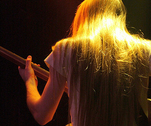 guitar, long hair, and perfect hair image