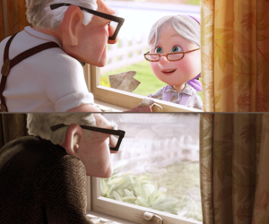 amor, disney, and up image