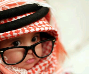 arab, baby, and glasses image