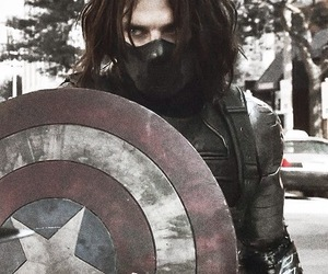 winter soldier, captain america, and sebastian stan image