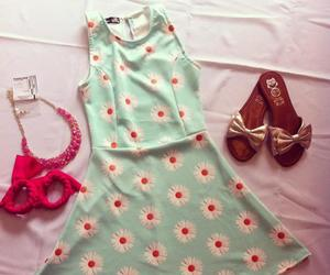 blue, sandals, and dress image