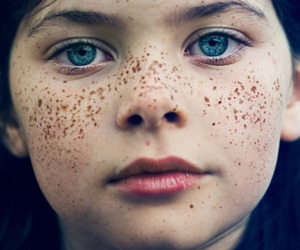 freckles, blue eyes, and eyes image