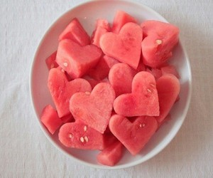 beauty, red, and watermelon image