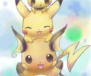 pichu, pikachu, and pokemon image
