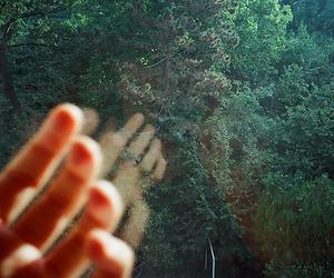 fingers, girl, and window image
