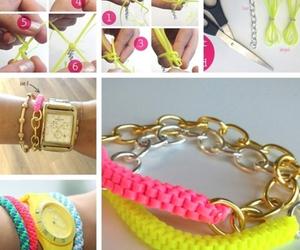 diy, bracelet, and pink image