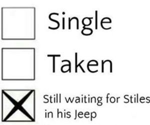 teen wolf, stiles, and single image