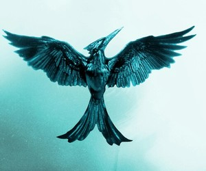 the hunger games, mockingjay, and blue image