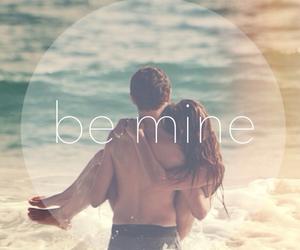 love, be mine, and beach image