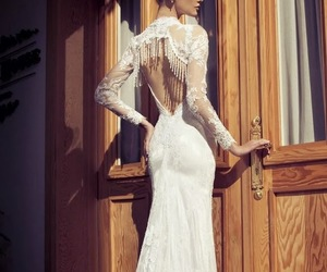 dress, hair, and white image