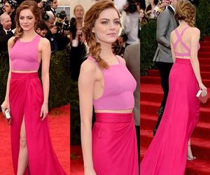 emma stone, dress, and pink image