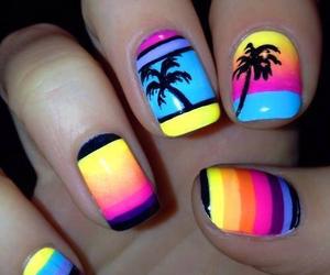 nails, summer, and black image