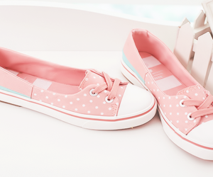 pink, pretty, and sneakers image