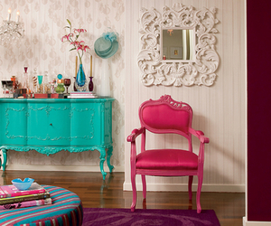 pink, vintage, and room image
