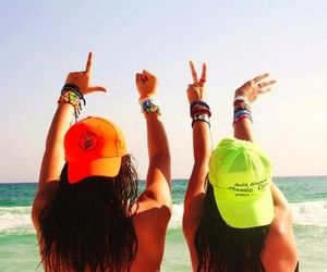 love, girl, and beach image