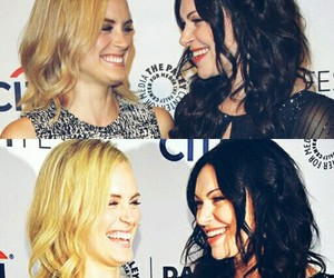 laura prepon, oitnb, and taylor schilling image