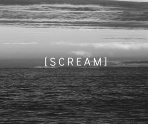scream, sad, and sea image