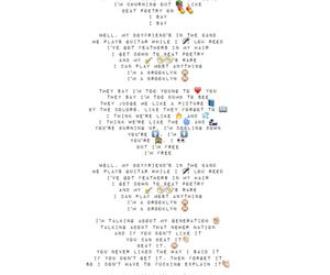 Lyrics, music, and song image