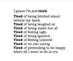 quotes and tired image