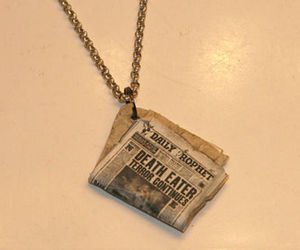 harry potter, necklace, and death eaters image