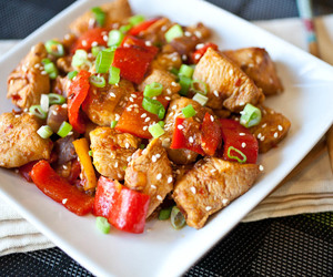 Chicken and asian food image