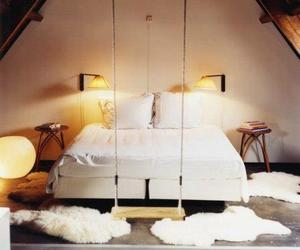 bedroom, room decore, and swing image