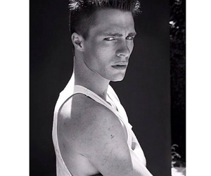 colton haynes, Hot, and black and white image