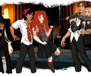 disney, aladdin, and hogwarts image