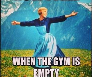 gym, empty, and fitness image