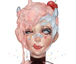 art, candy, and icecream image