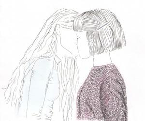 girl, kiss, and lesbian image