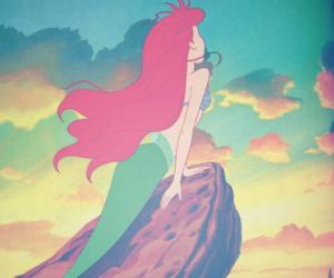 disney, ariel, and mermaid image