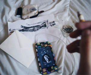 arcade fire, cigarette, and drawing image