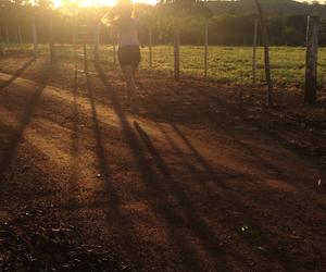 farm, girls, and light image