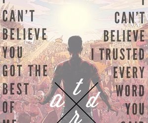 Lyrics, music, and a day to remember image