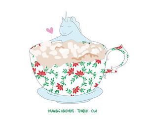 unicorn, chocolate, and happy image