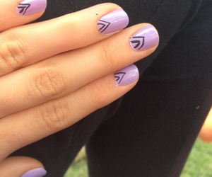lilac, nails, and triangle image
