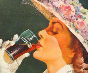 vintage, coca cola, and girl image