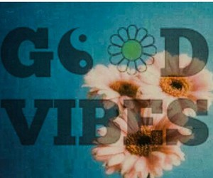 flower, heart, and hippies image