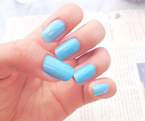 blue, cinderella, and nails image