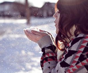 girl and snow image