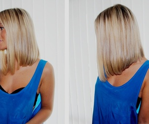 blond hair, lene orvik, and shirt hair image
