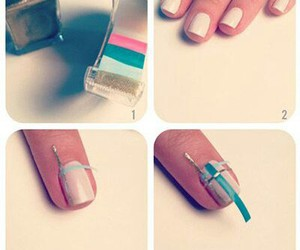 nails, tutorial, and plaid image