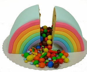 cake, candies, and colour image