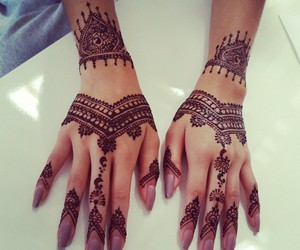 beautiful, henna, and nails image