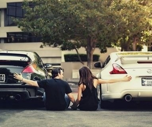 car, couple, and black image