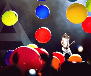 30 seconds to mars, balloons, and blue image