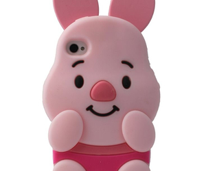pig, pink, and iphone case image
