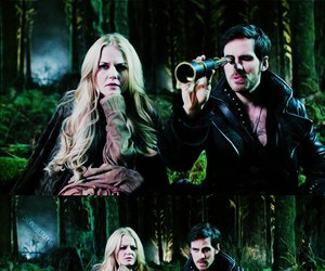 once upon a time, emma swan, and couple image