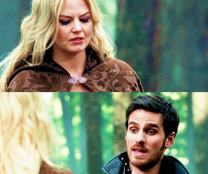 once upon a time, emma swan, and captain hook image